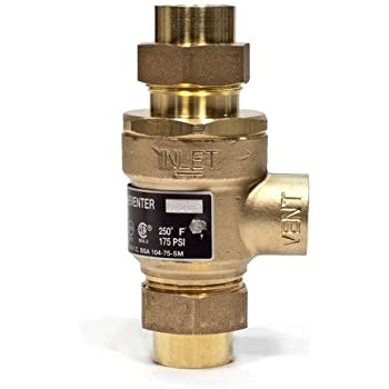 "Watts Brass & Tubular #9D-M3 1/2 1/2"" Backflow Preventer"