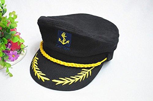 e5e3652a Tdmall Unisex Skipper Cap Ship Sailor Navy Yacht Military Captain Nautical  Hat Party Costume