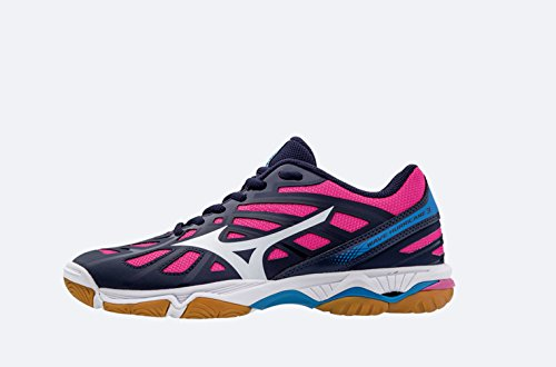 Wht DirectoireBlue WOS Wave Mizuno Hurricane Pink SYell Volleyballschuhe Damen nqHccaR6