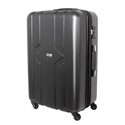 XXL Karry Hartschalen Koffer Reisekoffer Trolley TSA Zahlenschloss Hinomoto Rollen YKK Zipper 100 Liter Anthrazit 821