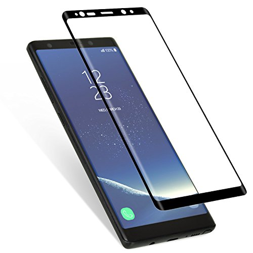 Basesailor NINI12 Full Coverage Anti-Scratch HD Clear 3D Curved Tempered Glass Screen Protector for Samsung Galaxy Note 8 - Black