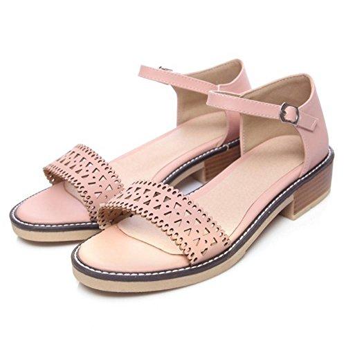 JOJONUNU Femmes Ete Bout Ouvert pink Sandales qZr7q1xw