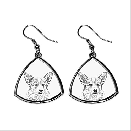 welsh-corgi-collection-of-earrings-with-images-of-purebred-dogs-collection-de-boucles-doreilles