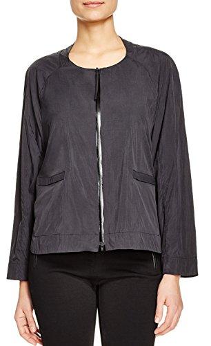 DKNY Pure Women's Nylon High Low Zip-Front Jacket in Black -