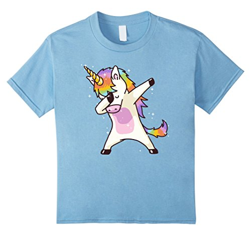 Kids Dabbing Unicorn Shirt Dab Hip Hop Funny Magic 4 Baby Blue (Gay Bunny Costume)