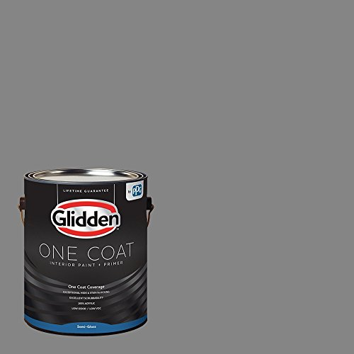 Glidden Interior Paint + Primer: Gray/Dover Gray, One Coat, Semi-Gloss, 1 Gallon - Paint Bedroom