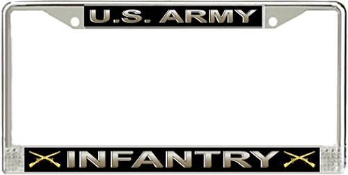 MilitaryBest U.S. Army Infantry License Plate Frame - Infantry License Plate