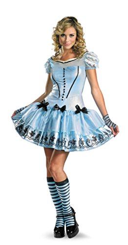 Disguise Womens Disney Sassy Alice In Wonderland Fancy Halloween Themed Costume, L (12-14)