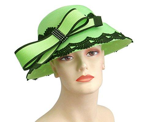 Ms Divine Women's Straw Church Kentucky Derby Tea Party Wedding Dress Formal Hats- HM20 …