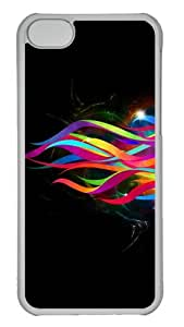 Customized Case Simple Colorful streamers PC Transparent for Apple iPhone 5C