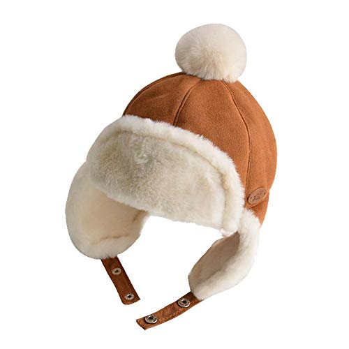 Children's Warm Winter Thick Kids Hat 1-3 Years Old Baby Baby hat Hair Ball Earmuffs Lei Feng hat