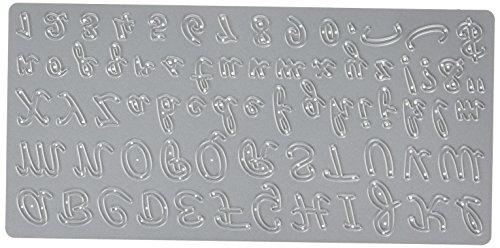 CottageCutz Die Cuts with Foam, 4 by 8-Inch, Sugar and Cream Alphabet Made Easy Accucut Die