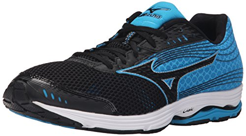 Mizuno Men's Wave Sayonara 3 Running Shoe, Black/Atomic Blue, 9.5 D US ()