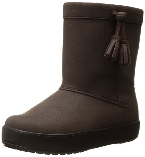 crocs LodgePoint Boot Slip-On , Espresso, 13 M US Little Kid