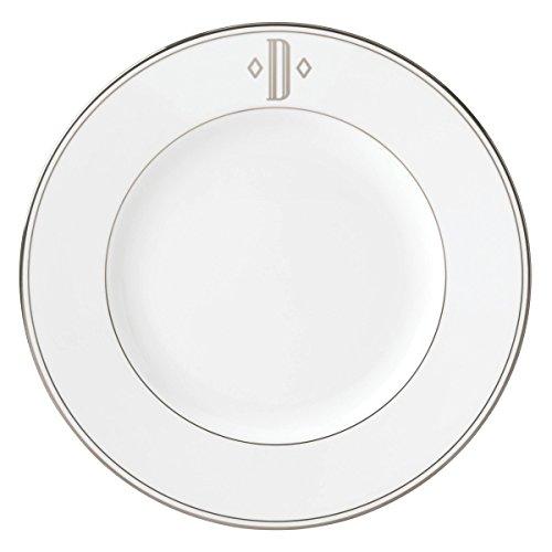 (Lenox Federal Platinum Block Monogram Dinnerware Dinner Plate, D)