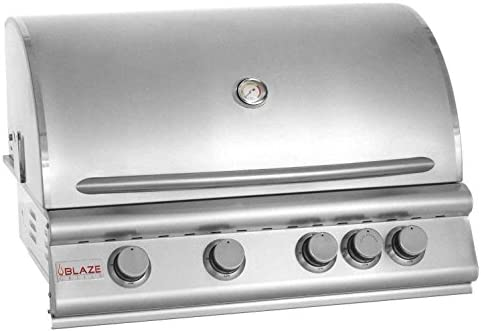 32 4-Burner Built-In Gas Grill with Rear Infrared Burner Gas Type Propane