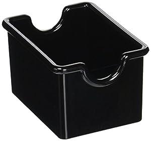 New Star Foodservice Plastic Sugar Packet Holder, Black, Set of 12