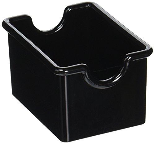 New Star Foodservice 28430 Plastic Sugar Packet Holder, Black, Set of 12