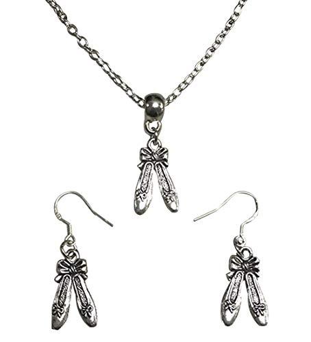 Dance Necklace & Earrings, Ballet Shoes Jewelry, for Dancers, Dance Recitals, Dance Teams & Dance Teachers