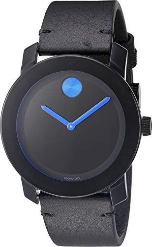 Swiss Movado Quartz - Movado Men's Swiss Quartz Stainless Steel and Leather Watch, Color Black (Model: 3600307)