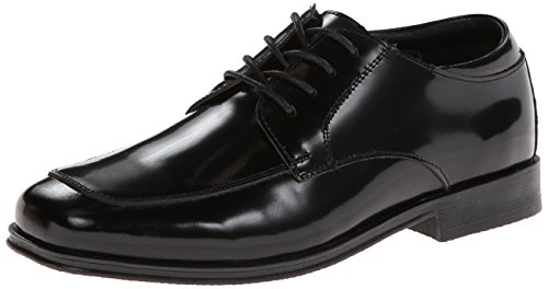 Kenneth Cole Reaction Kid Club Oxford (Little Kid/Big Kid),Black Shiny Leather,5.5 M US Big Kid