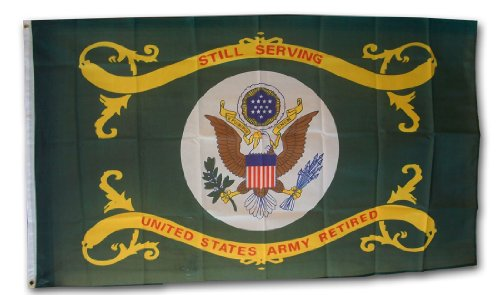 Army - Retired - 3' x 5' Polyester Military Flag