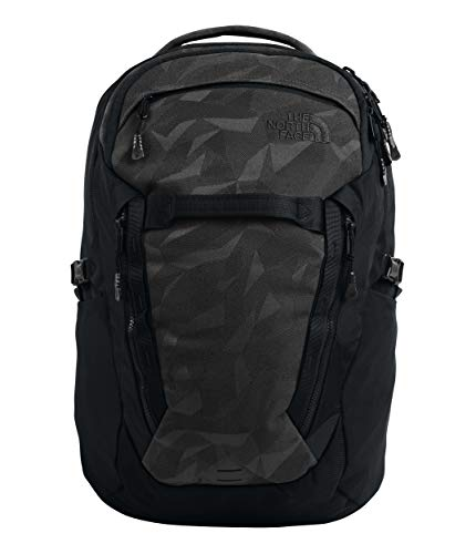 The North Face Unisex Surge Backpack Tnf Black Camo Jacquard/Tnf Black One Size