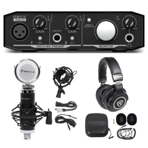 Mackie Onyx Artist 1.2 2x2 USB Recording Interface+Studio Microphone+Headphones ()