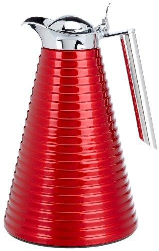 Alfi Vacuum Carafe Achat, Thermal Carafe, Fluted, Aluminium, Velvet Burgundy, 1 Liter, 1560247100