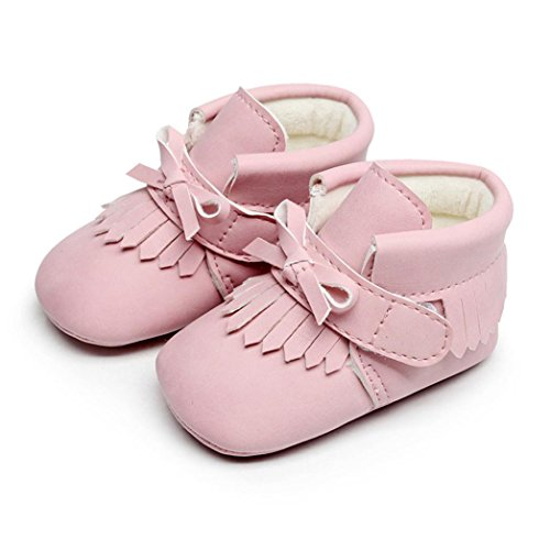 Baby Warm Martin Shoes, Toddler Newborn Baby Boys Girl Crib Winter Boots Prewalker (0~6 Month, Pink) -