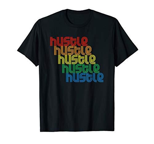 - Hustle Repeat T-Shirt Vintage Disco 70s Retro Vintage Funk T