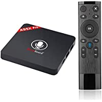 A95x Pro Android 7.1 TV Box,Greatlizard Voice Control 2GB DDR3 16GB EMMC 4K UHD Quad Core Smart TV Box VP9 HEVC Decoding