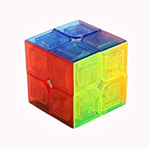 The 2x2x2 Magic Cube, Speed Puzzle Puzzle Cube for Beginner (Transparent)