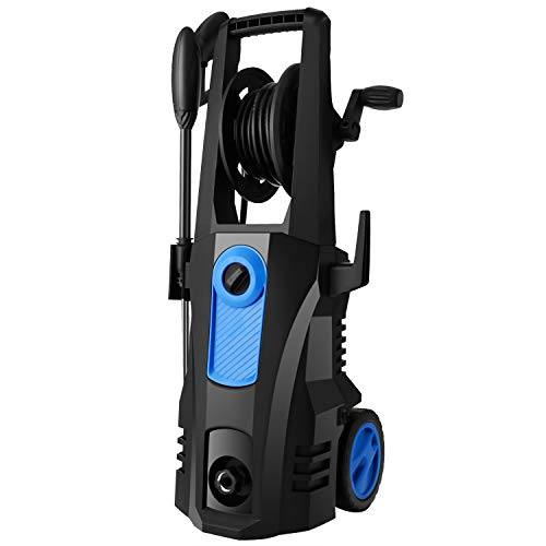 TEANDE Electric Pressure Washer, 3500 MAX PSI 2.60 GPM High Electric Pressure Washer, Power Washer with Hose Reel