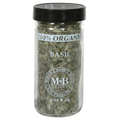 Morton & Bassett Organic Basil, .4-Ounce Jars (Pack of 3)