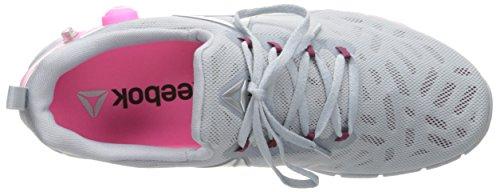 Rebel 2 Poison Shoe Women's B Zpump Walking Metallic Silver Reebok M Fusion Pink Berry 5 US Cloud Grey wR7Aqtq