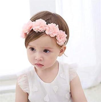 Am /_3Pcs Kleinkind Baby Mädchen Schleife Blume Elastisch Kopfband Mütze Haarband