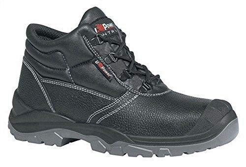 Di sicurezza per stivali con lacci EN ISO 20345S3SRC Safe UK taglia 39pelle bovina nero