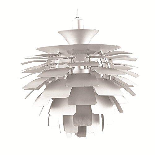 Designer Modern Artichoke Pendant Lamp 48cm in Silver