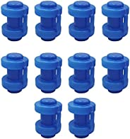 JAOCDOEN Pack of 10 Upper Bounce Universal Trampoline Pole Cap End for Fitness and Leisure Trampoline Accessor