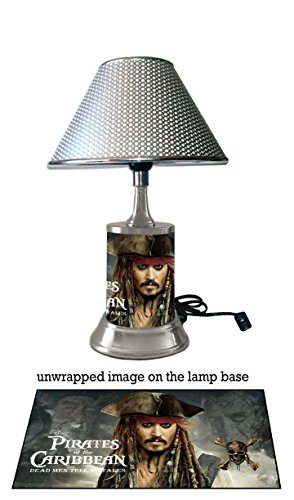 Pirates Of Caribbean 5 Lamp with chrome shade, Dead Men Tell No Tales Johnny - Shades Johnny Depp