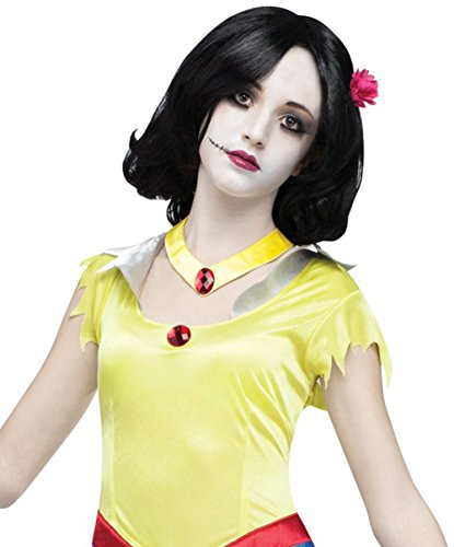 Adult Once Upon A Zombie Princess Snow White Wig Costume, ONe Size - Zombie Snow White Costumes