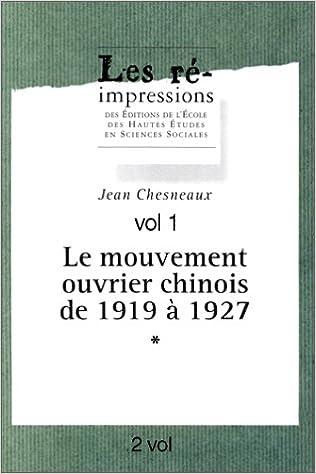 Téléchargez des livres gratuits pour ipad cydia Le mouvement ouvrier chinois de 1919 à 1927 PDF DJVU FB2