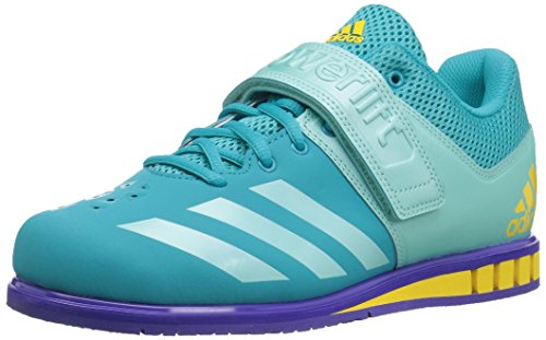adidas  Women's Powerlift.3.1 w Cross Trainer, Energy Blue/Energy Aqua/Noble Ink, 10.5 Medium US