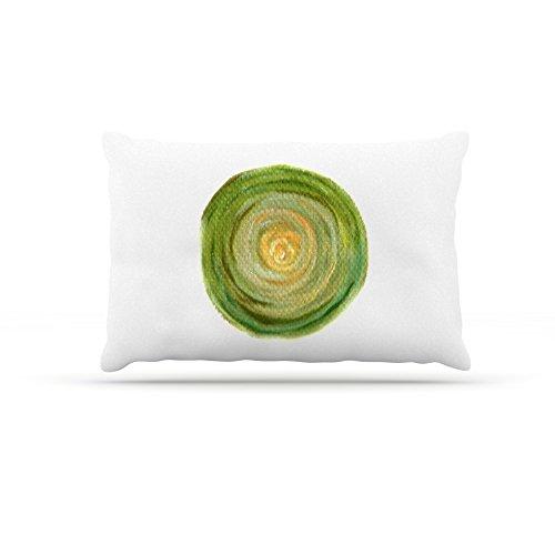 Kess InHouse Theresa Giolzetti Leeks  Fleece Dog Bed, 50 by 60 , Green White