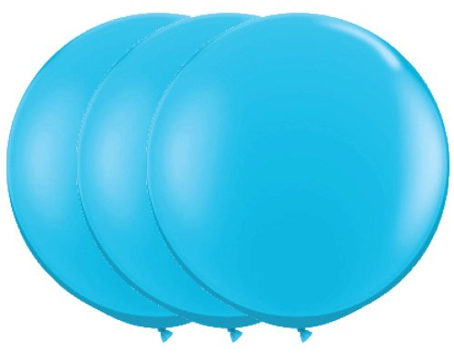 36 Inch Latex Balloon Pastel Turquoise (Premium Helium Quality) Pkg/3, Health Care Stuffs