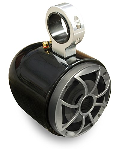 Wet Sounds Single Barrel Wakeboard Tower Speakers - Universal Inserts - Powder Coated Black - Pair
