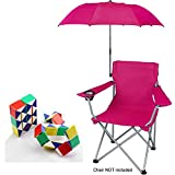 Ozark Trail Attachable Umbrella for Outdoor Folding Chair, Red - UMBRELLA ONLY