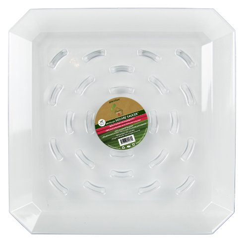 - Plastec SQR14 Square Recycled Plant Saucer, 14-Inch