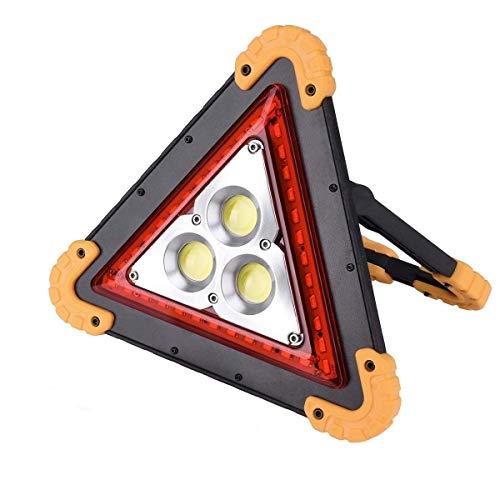 QAZWSX Led Portable searchlight car Traffic Signal Warning Light Emergency Maintenance Construction Work Light USB 500 Watt Handheld Halogen Floodlight